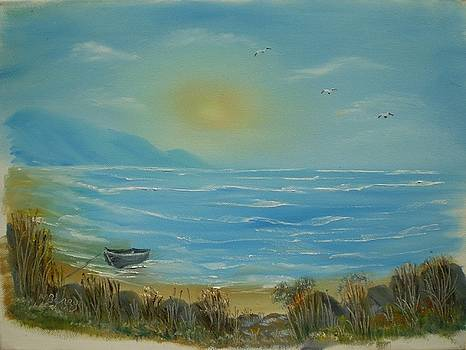 Moored at Brittas Bay by Noel Barry
