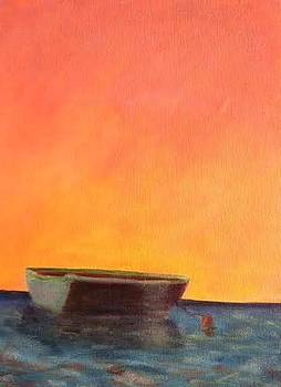 Moored at Sunset by Molly Fisk