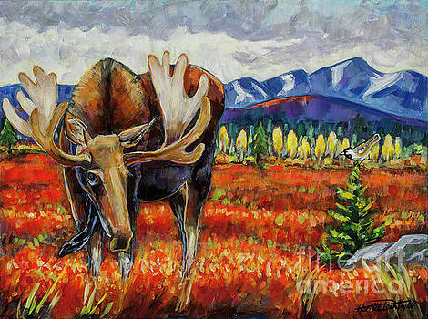Harriet Peck Taylor - Moose in the Autumn Tundra