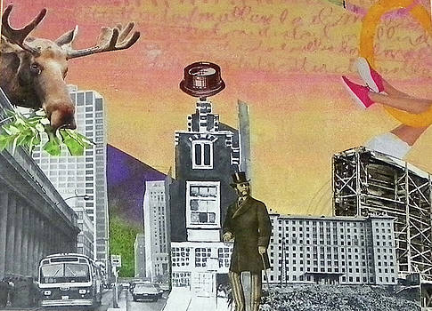 Moose in the City by Linnie Greenberg