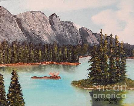 Moose In The Water by William McCutcheon