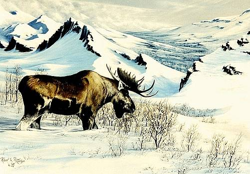 Moose Ridge First Snow by Bob Patterson