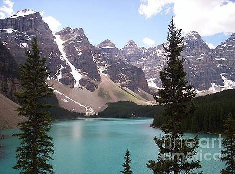 Moraine Lake In Banff National Park  by Sharon Patterson