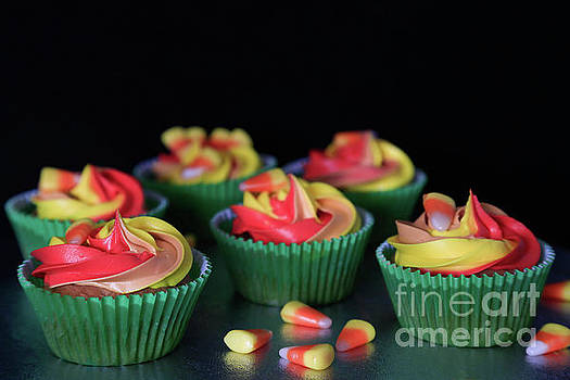 More Candy Corn Cupcakes by Tracy Hall