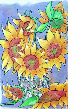More Sunflowers by Loretta Nash