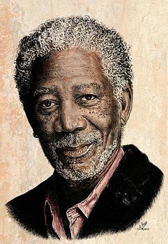 Morgan Freeman colour edit by Andrew Read