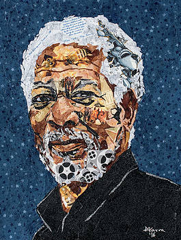 Morgan Freeman by Mihira Karra