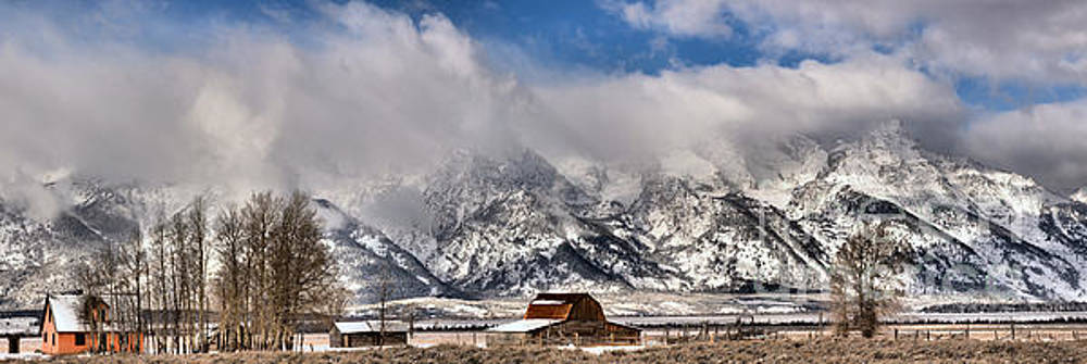 Mormon Row Early Winter Panorama by Adam Jewell