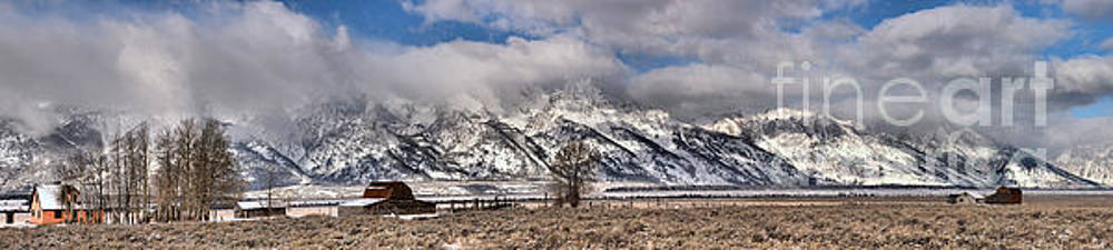 Mormon Row Extended Panorama by Adam Jewell