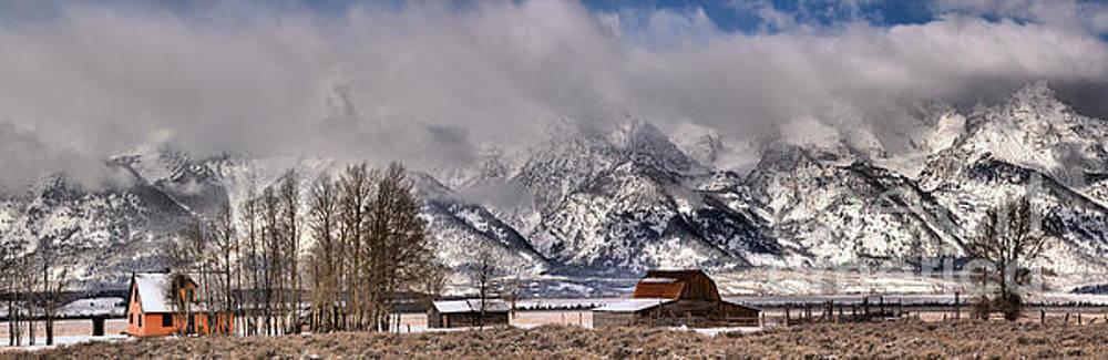 Mormon Row Winter Panorama by Adam Jewell