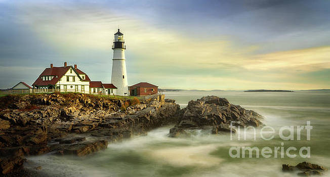 Morning at Portland Lighthouse by Jerry Fornarotto