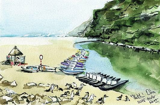 Morning At Porto Novo Beach by Dora Hathazi Mendes