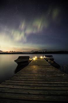 Morning Aurora on the Lake of the Woods by Jakub Sisak