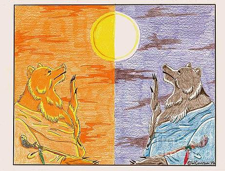Morning Bear Greets the Sun, Evening Bear Greets the Moon by Wendy Coulson