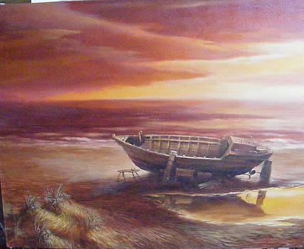 Morning Boat by Sergey Zinovjev