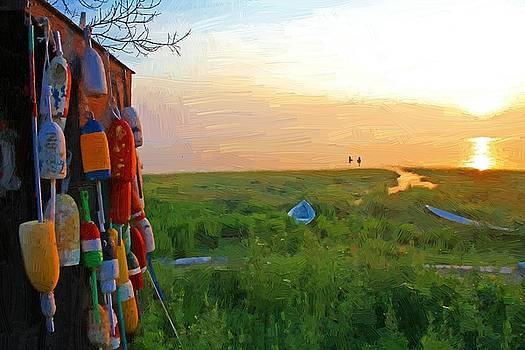 Morning Buoys 2 by John Ellis