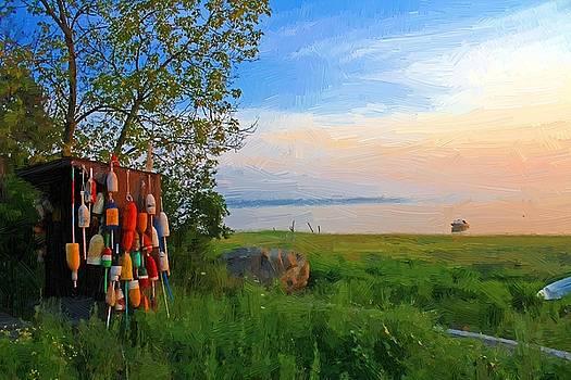 Morning Buoys by John Ellis