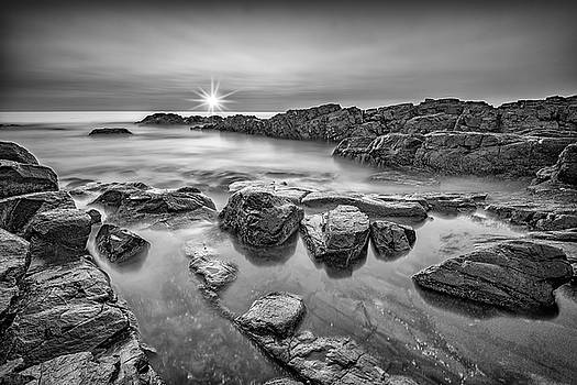 Morning Calm on Marginal Way in Black and White by Rick Berk