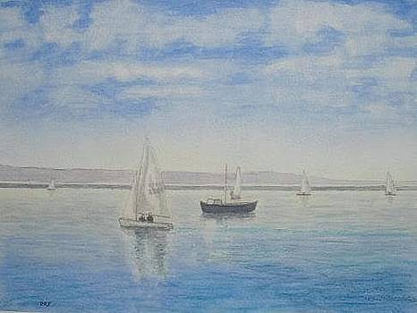 'Morning Calm' - west KIrby Marine Lake by Peter Farrow