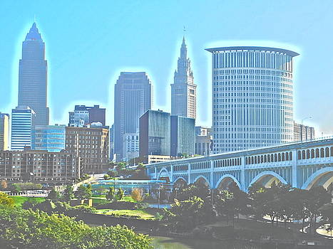 Morning Cleveland Paint Effect by Nancy Spirakus