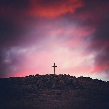 Morning Cross On A Hill by Debi Bishop