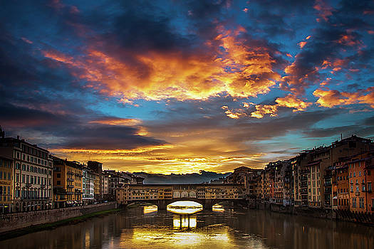 Morning Drama over Florence by Andrew Soundarajan