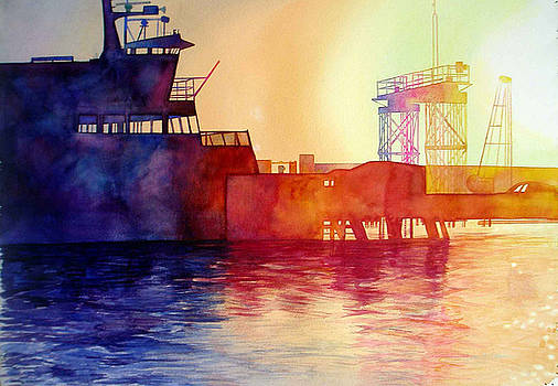 Morning ferry by Scott Mulholland