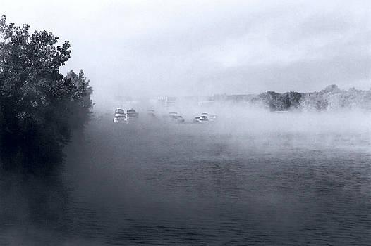Morning Fog - Hudson River by John Schneider