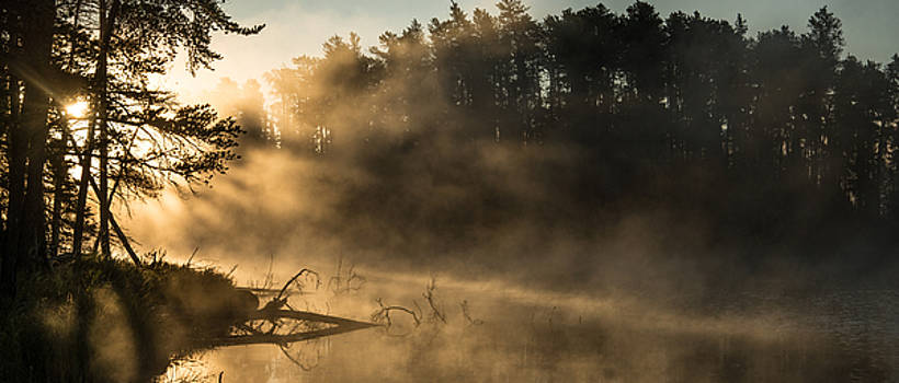 Morning Fog in the Boundary Waters by Christopher Broste