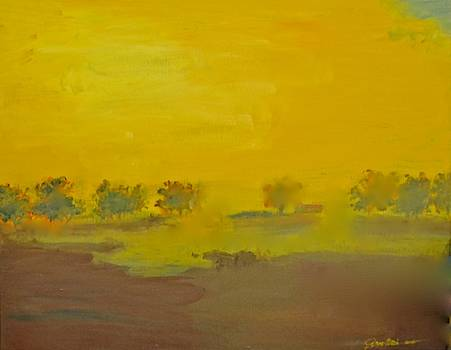 Morning Fog in the Pasture by Jim Ellis