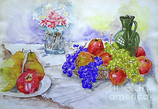 Morning Fruit Table by Jasna Dragun