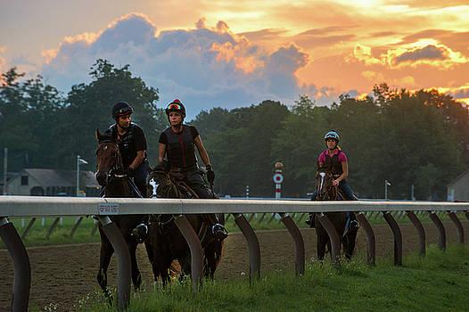 Morning Gallop Saratoga by Michael Gallitelli