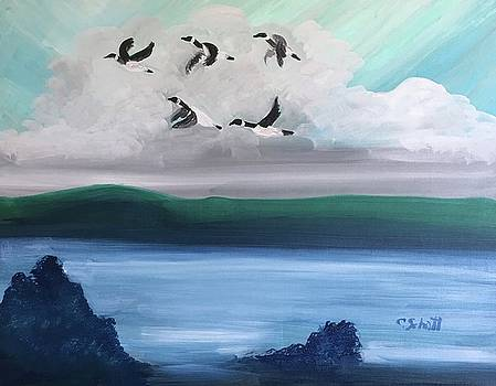 Morning Geese by Christina Schott