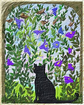 Morning Glory Glorified Cat by Aletha Jo Lane