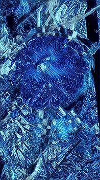 Brenda Plyer - Morning Glory Mosaic 4 Deep Blue