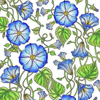 Irina Sztukowski - Morning Glory Watercolor Pattern