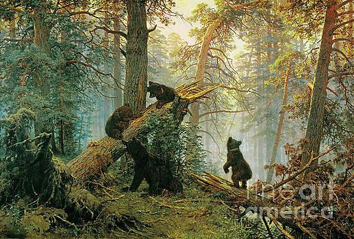 Morning in a Pine Forest by Ivan Shiskin Kanstantin Savitsky