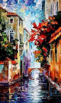 Morning In Venice - PALETTE KNIFE Oil Painting On Canvas By Leonid Afremov by Leonid Afremov