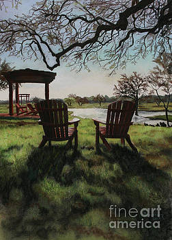 Morning Light at the Vineyard Florence Texas by Kelly Borsheim