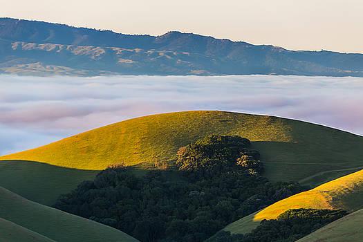 Marc Crumpler - Morning Light on Hills and Fog