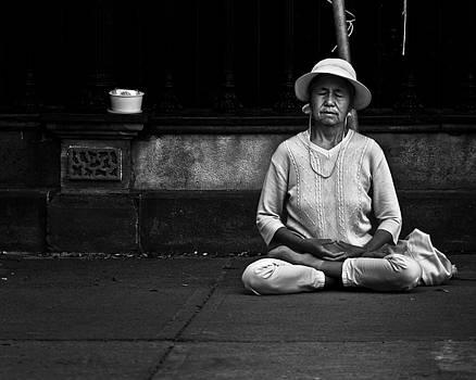 Morning Meditation at Toronto City Hall by Brian Carson