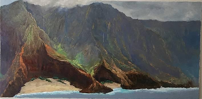 Morning Mist, Napali Coast by Ed Furuike