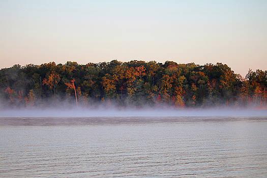 Art Block Collections - Morning Mist on Kentucky Lake