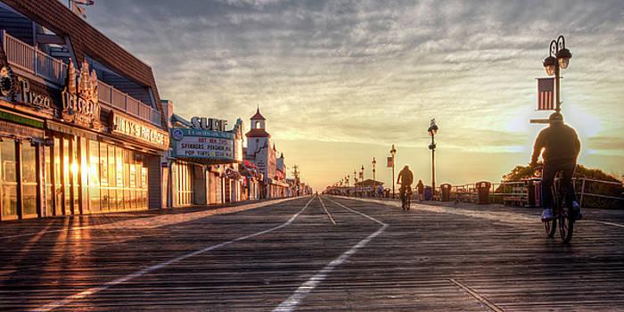 Morning On The Boardwalk by Dan Myers