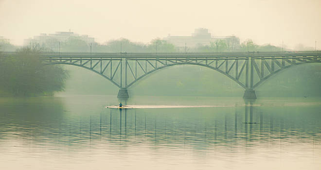 Morning on the Schuylkill River - Strawberry Mansion Bridge by Bill Cannon
