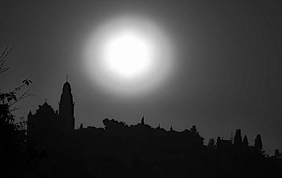 Morning  over Jerusalem by Michael Gora