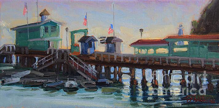 Morning Pier Light by E Williams