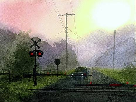 Morning Railroad Crossing by Sergey Zhiboedov