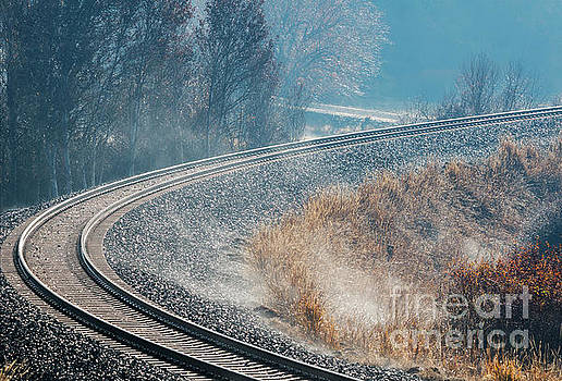 Morning Railway Curve by Mike Dawson
