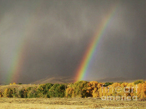 Morning Rainbow in Wyoming by Dawn Senior-Trask